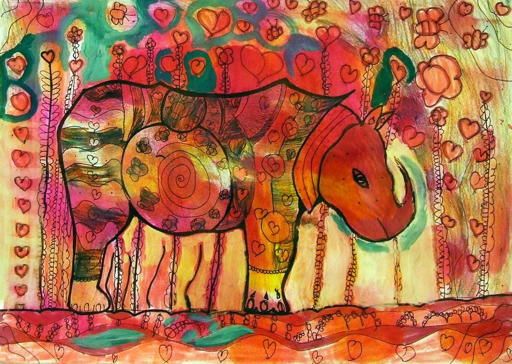 a rhinocerus in love